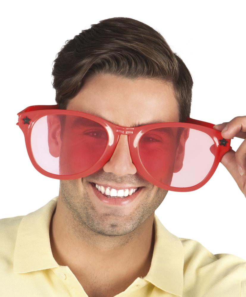 Partybril jumbo rood