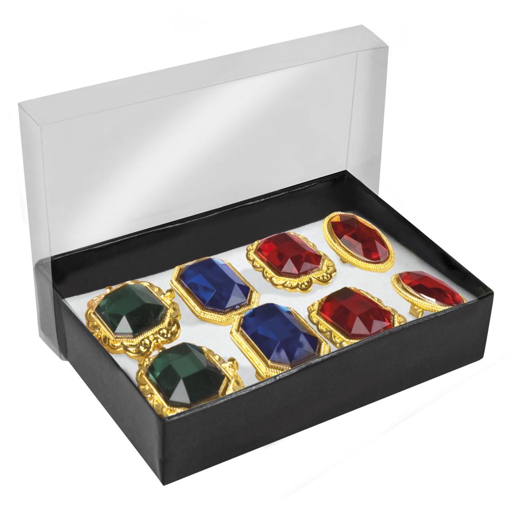 Ringen edelsteen set van 8 stuks