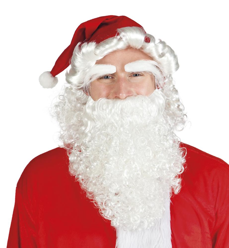 Set Kerst (muts, pruik, wenkbrauwen en baard)