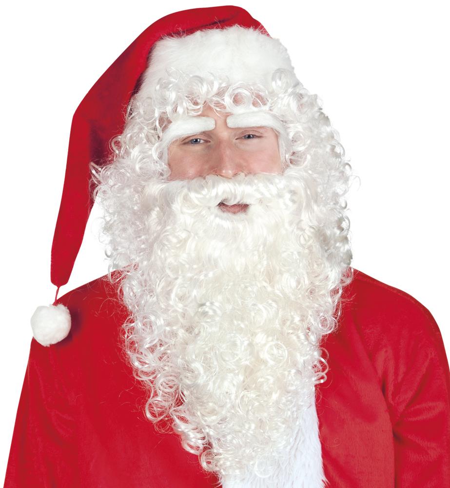 Set Kerstman (pruik, wenkbrauwen en baard)