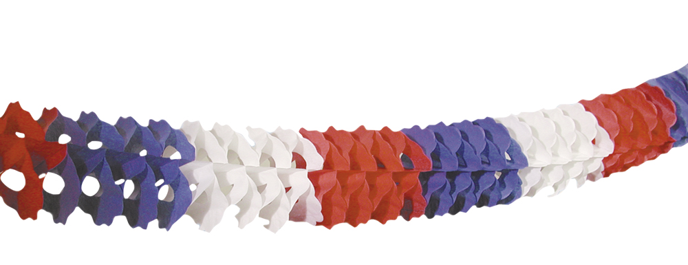 Guirlande Extra 6m blauw/wit/rood