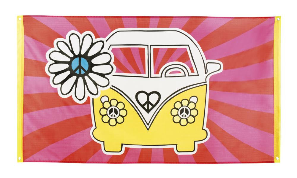 Polyester vlag Hippie (90 x 150 cm)