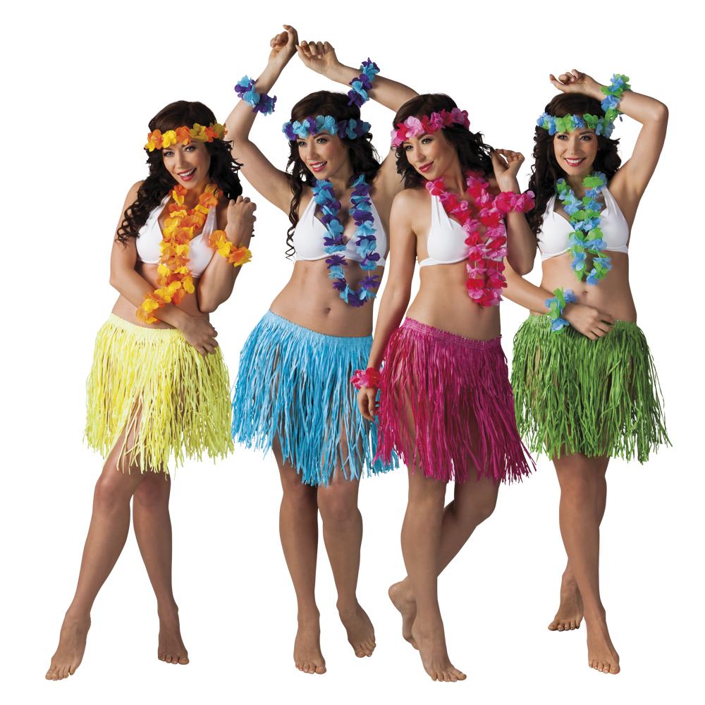 Kalia Hawaii set (1 hoofdband, 1 krans, 2 armbanden en 1 rokje) per set