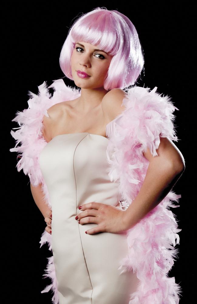 Boa luxe 80 g roze (180 cm)