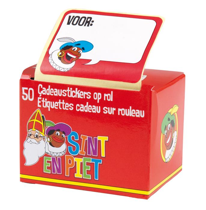 Doos 50 Cadeau stickers op rol SintΠet