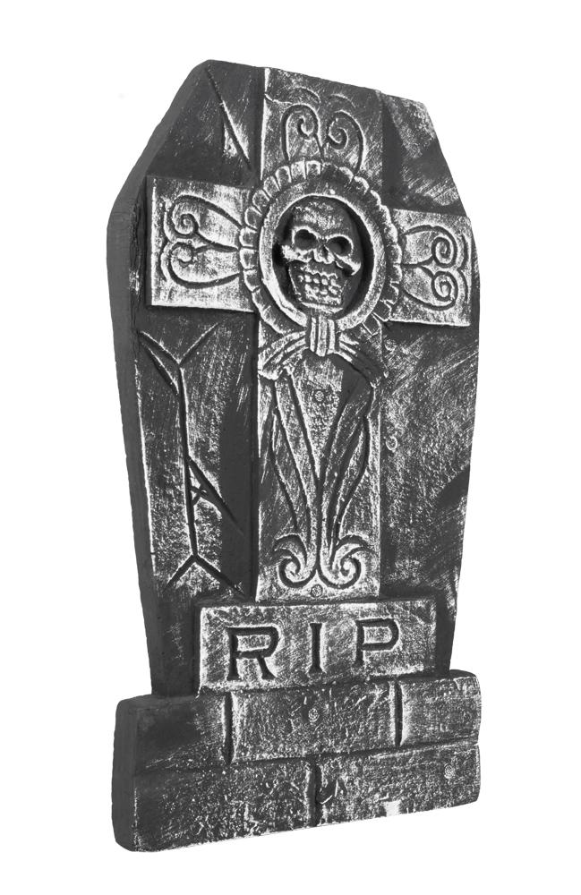Grafsteen Skull cross RIP (50 x 27 cm)