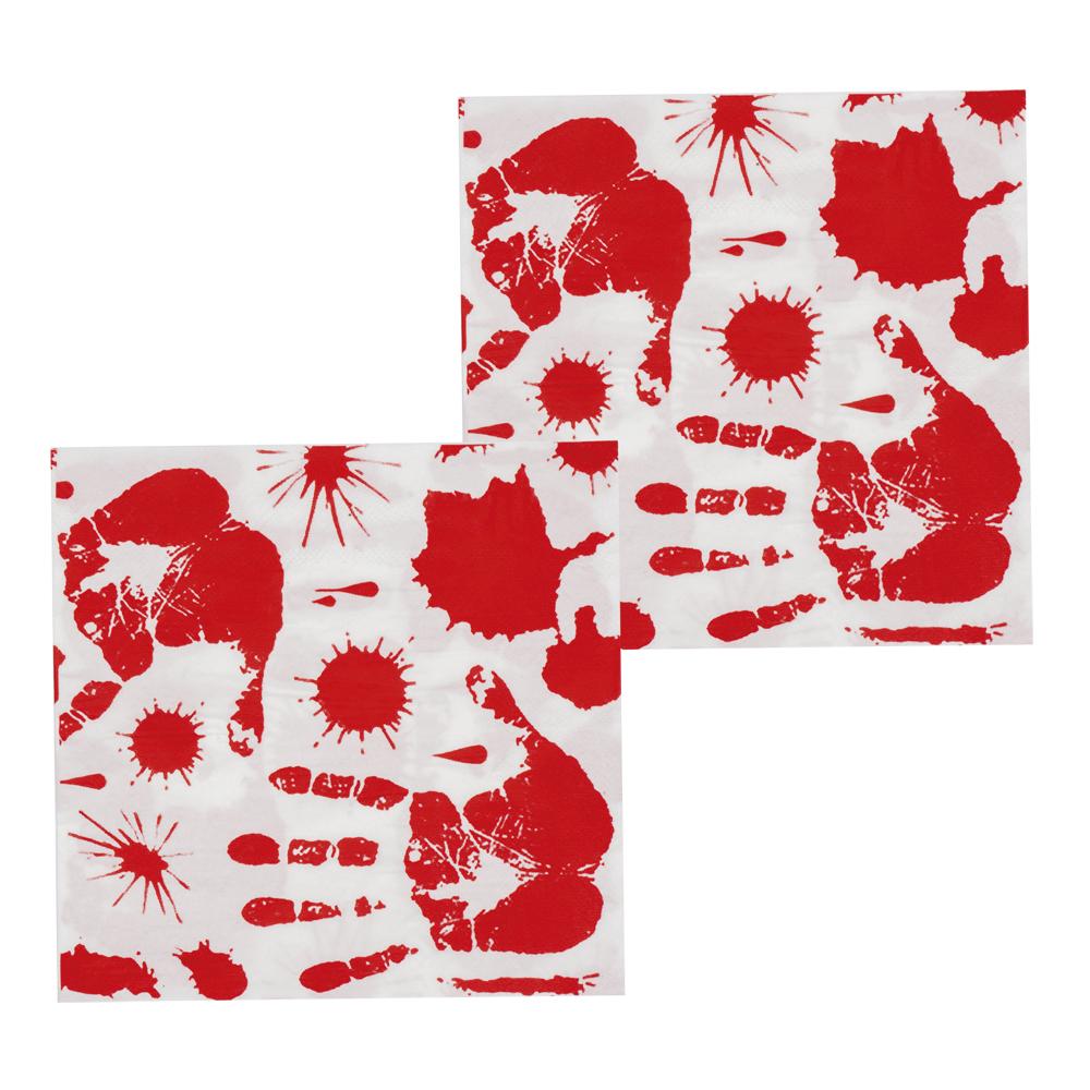 Set 12 Servetten Bloody (33 x 33 cm)