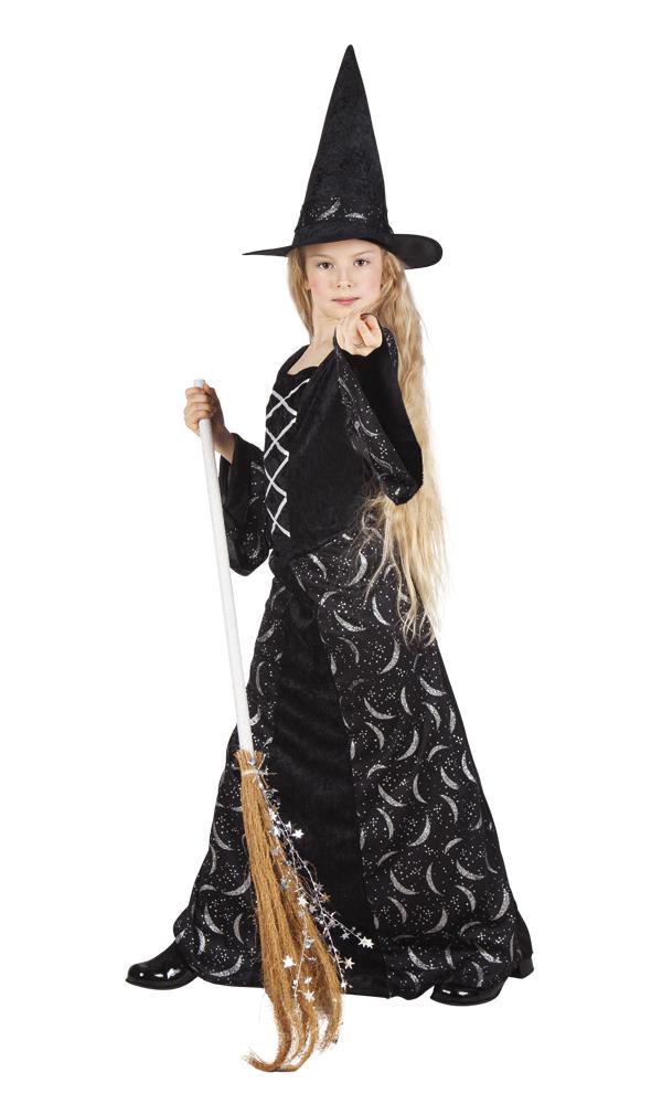 Mignight witch heksen jurk voor meisje