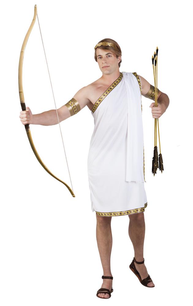 Eros wit cupido kostuum voor heer (M/L)