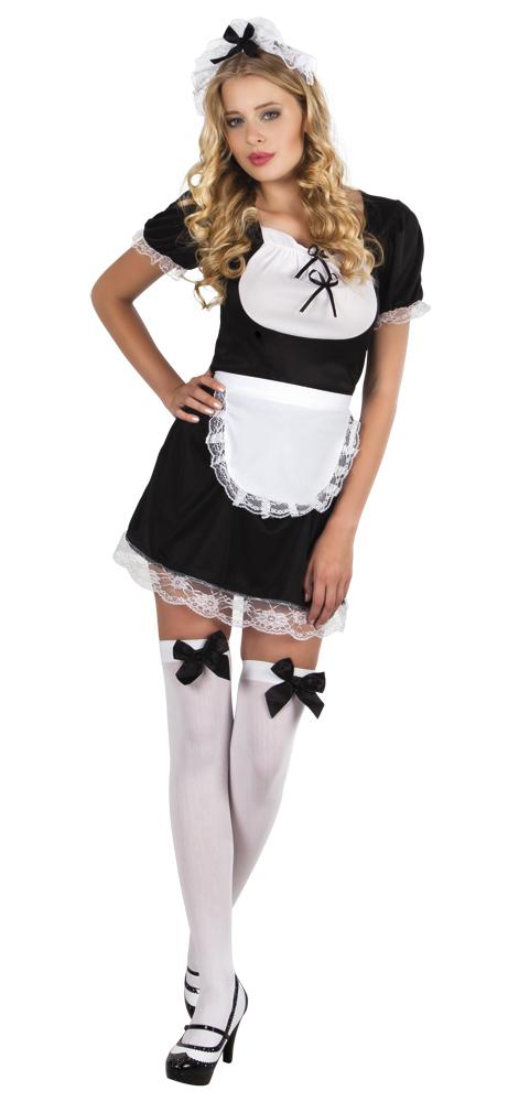 French maid Claudette jurk kamermeisje (Maat 36/38)