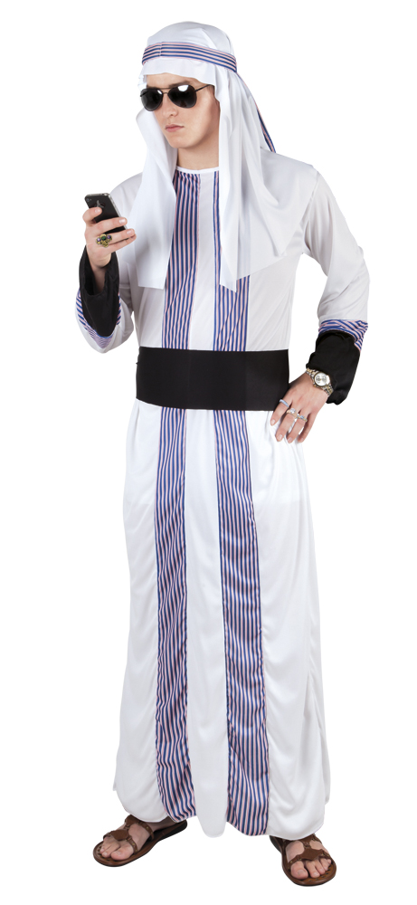 Sheik oliebaron kostuum voor heer (M/L)