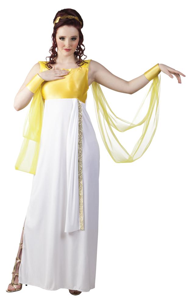 Aphrodite romeinse jurk voor dame (M)