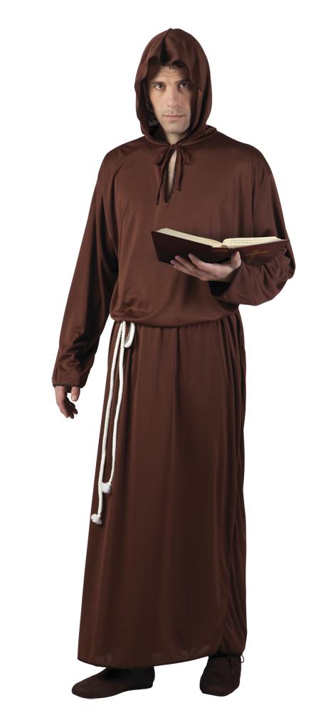 Monk bruin paters kostuum voor volwassenen (M/L)