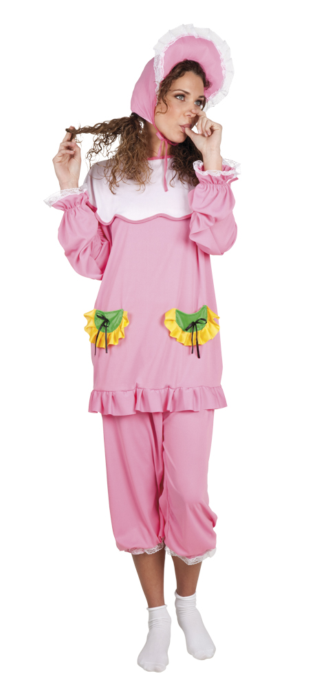 Big baby roze baby kostuum voor dame (M/L)