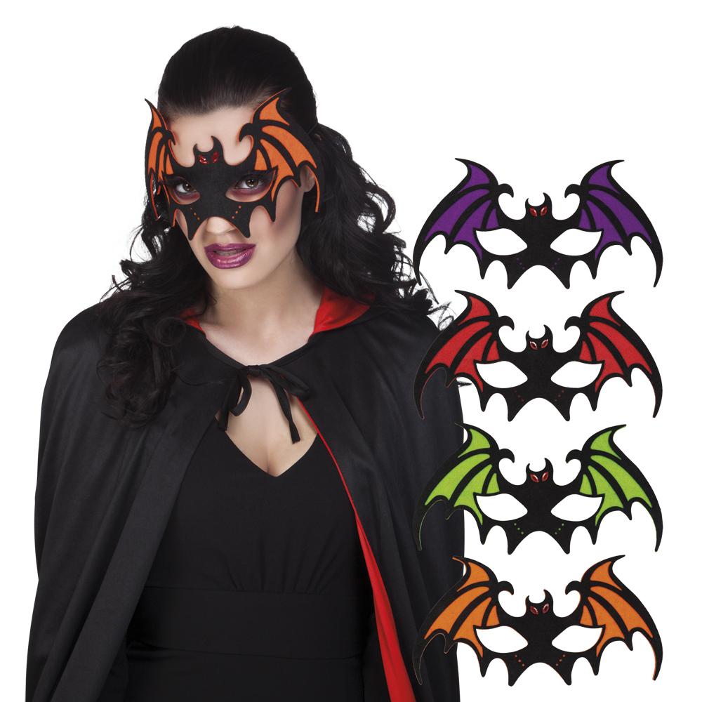 Vilten oogmasker vleermuis wordt per stuk en per kleur geleverd