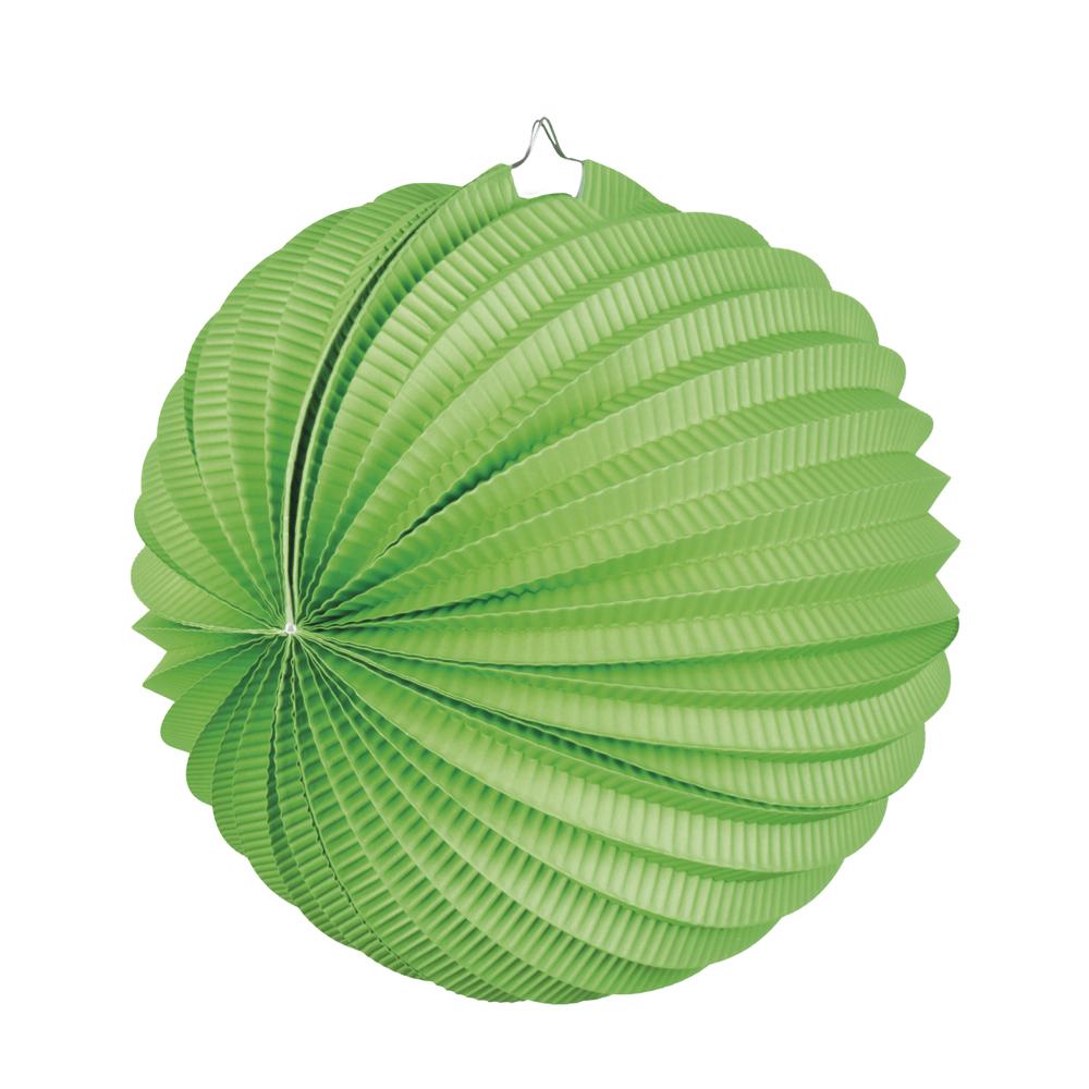 Papieren ballonlampion groen (23 cm)