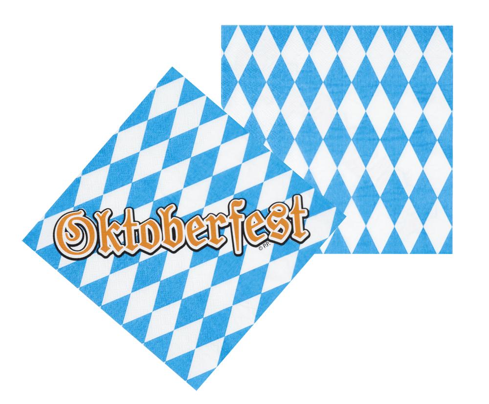 Set 12 Servetten Oktoberfest (33 x 33 cm)