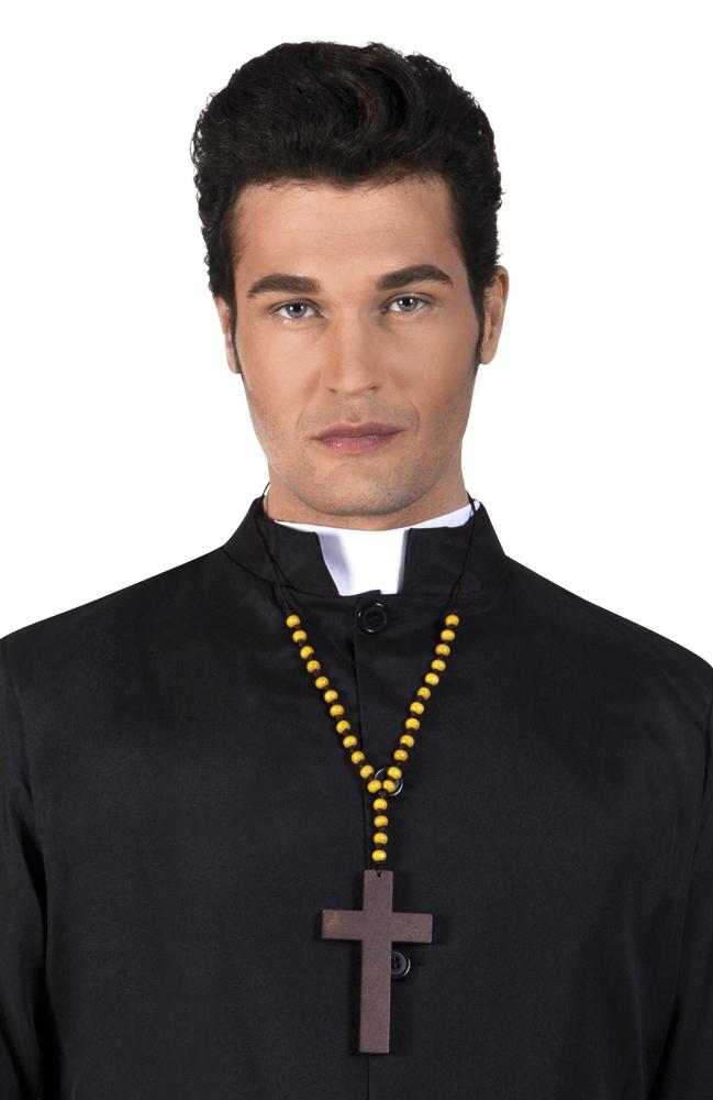 Houten priester kruis de luxe