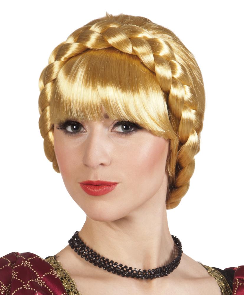 Pruik Helga met vlecht blond