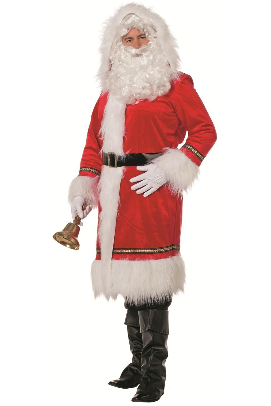 Kerstman mantel Santa de luxe voor heer