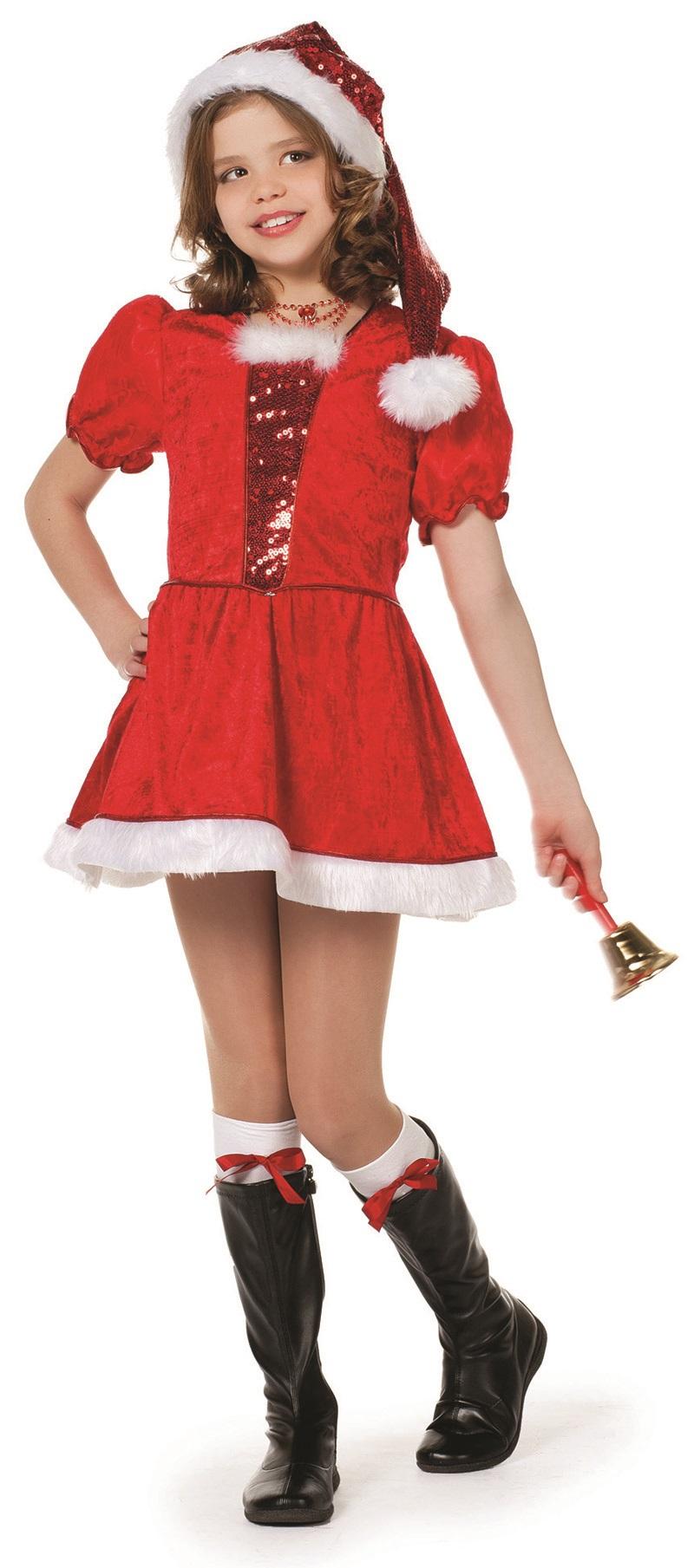 Kerstjurk met pailletten voor meisje