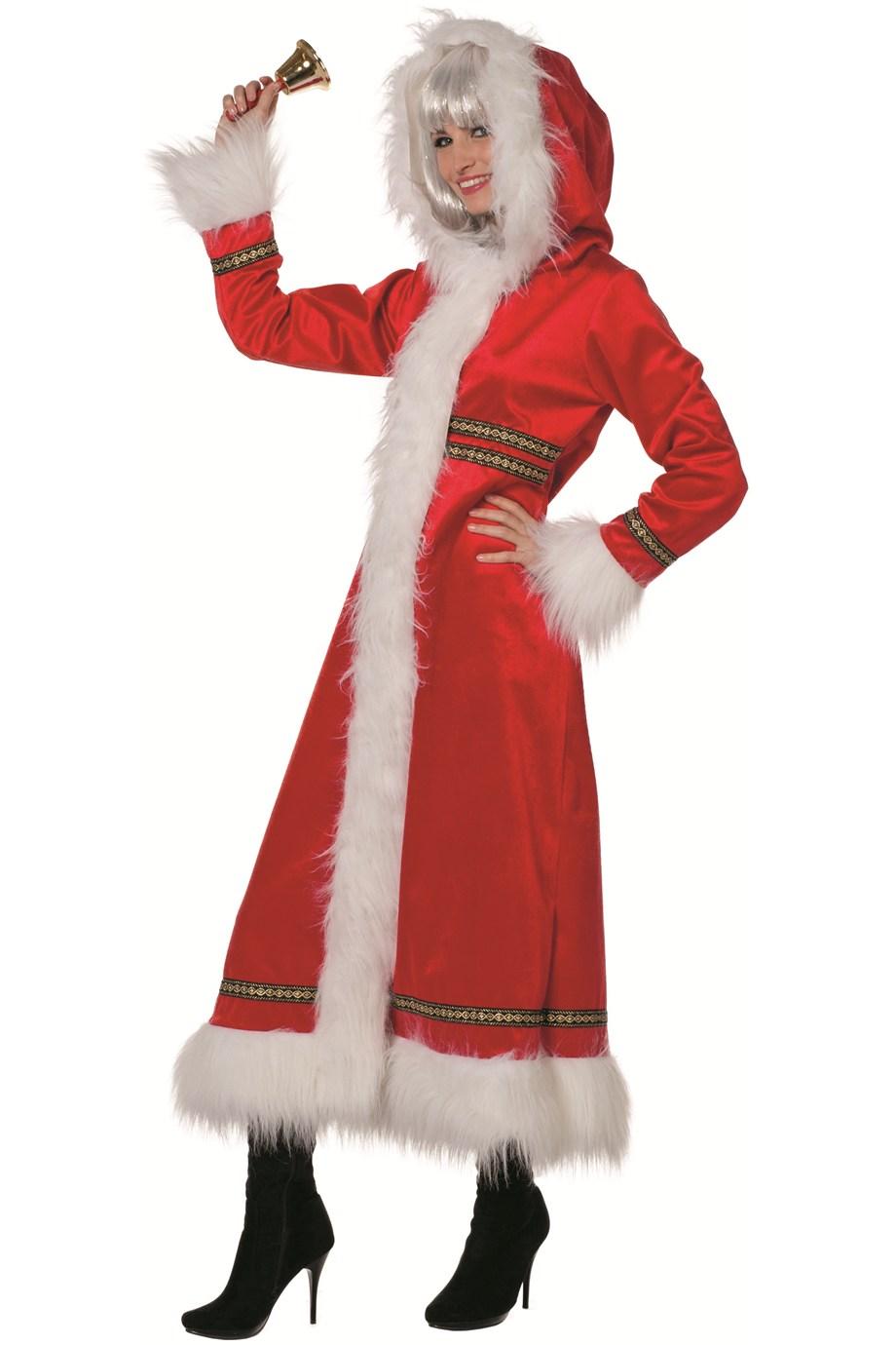Kerstvrouw mantel Ms. Santa luxe voor dame