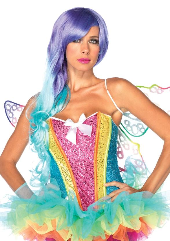 Rainbow Sequin Corset Multicolor