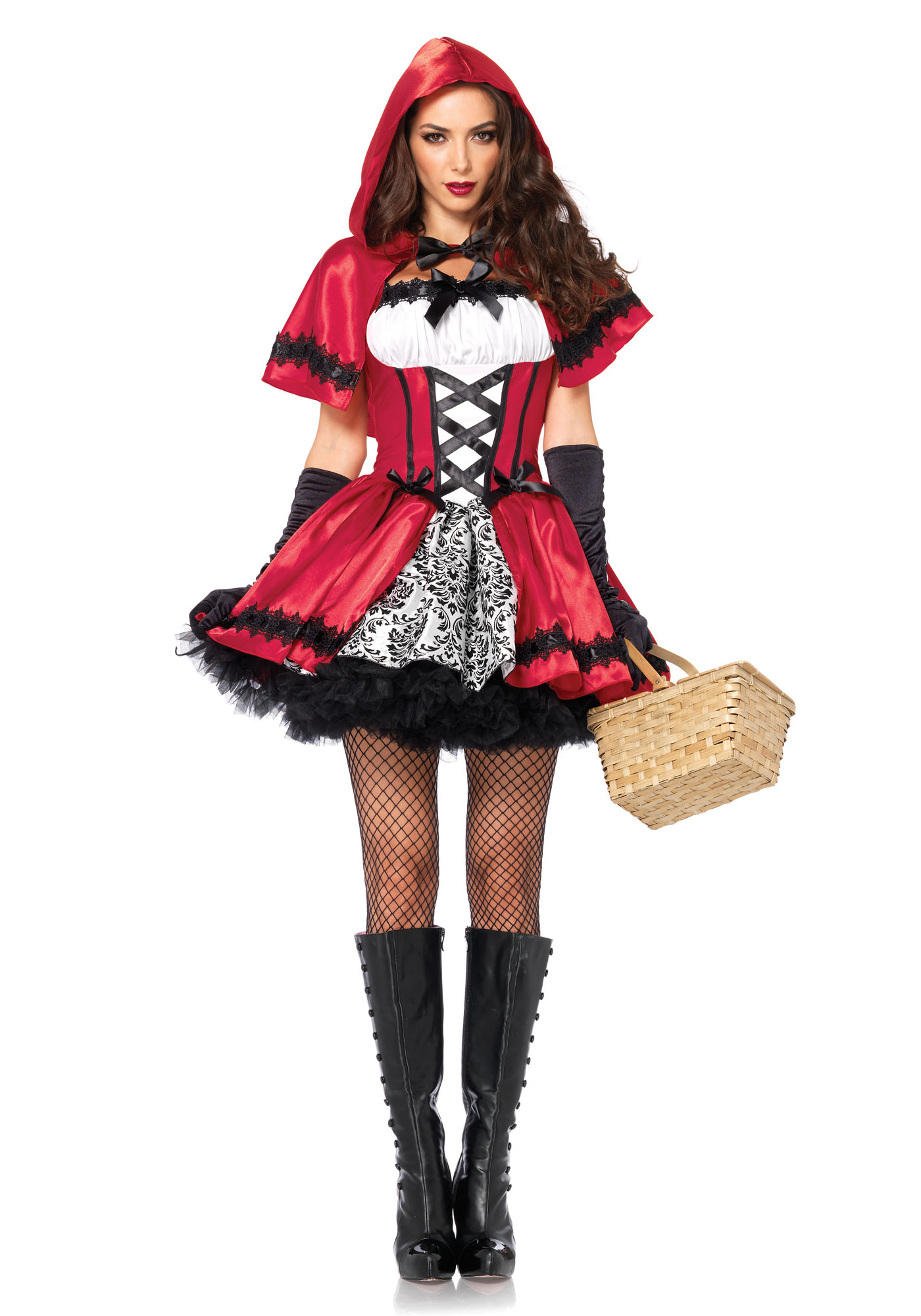 Gothic Red Riding Hood Rood/Wit