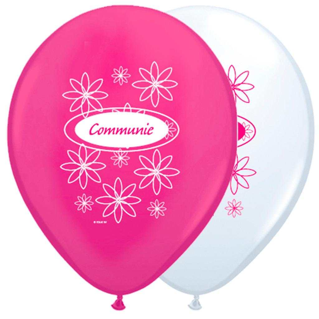 Folatex ballon Helium 12 inch/30cm Communie Meisje