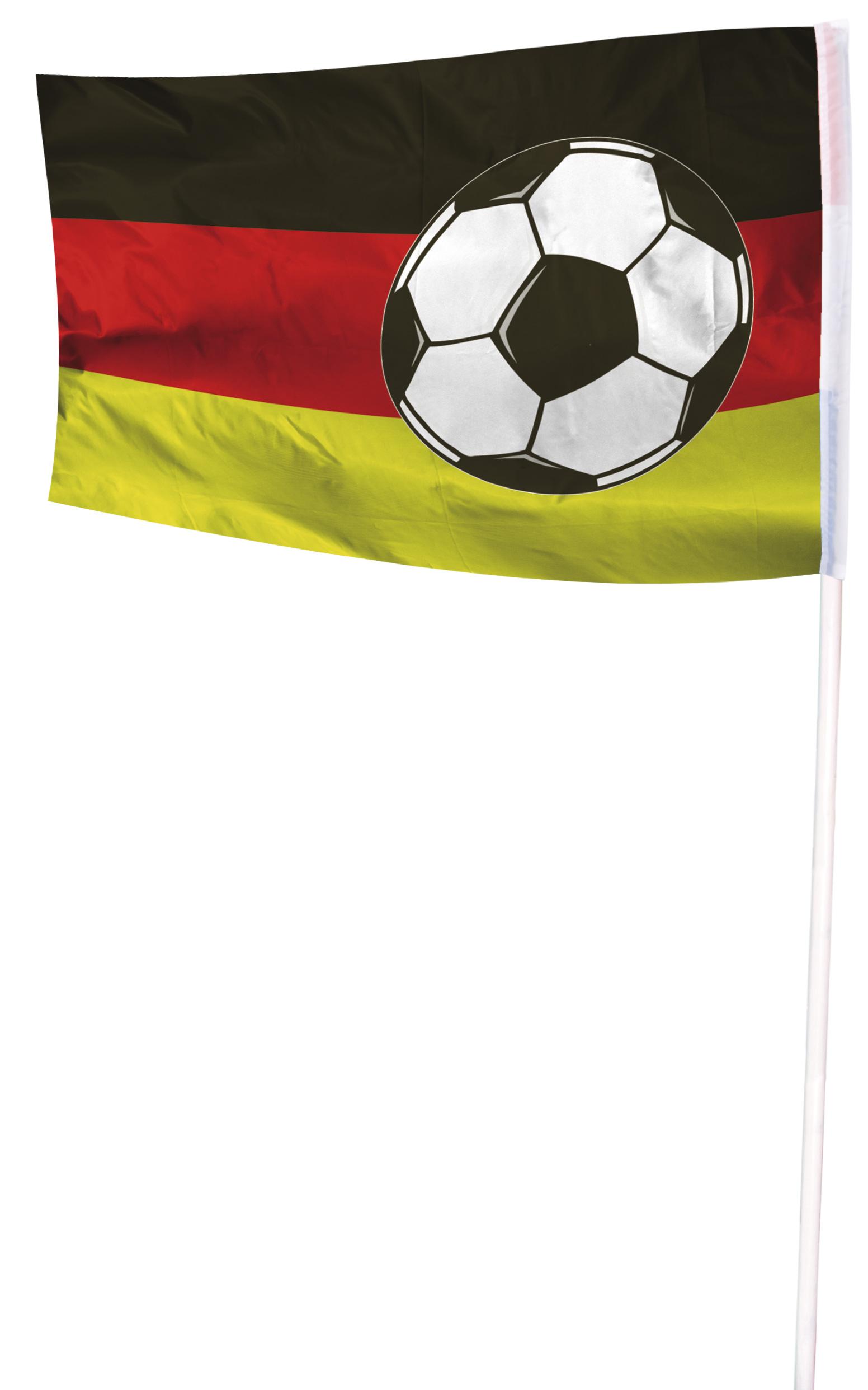 Gevelvlag Voetbal 100x150m zwart/rood/geel