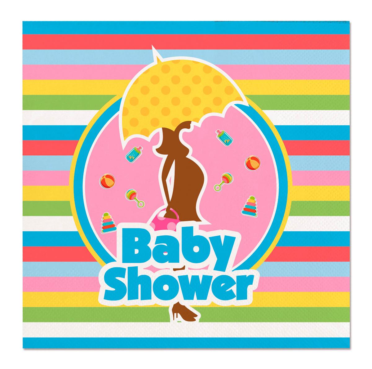 Servet Babyshower 25x25cm 20 stuks