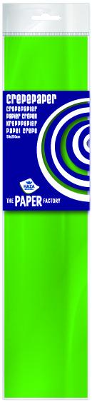 Crêpepapier poly 28 gm²/ 40% / 250x50 lichtgroen