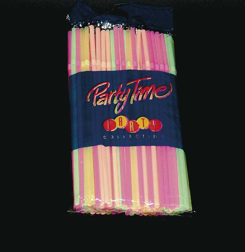 Buigrietjes neon 24cm 100 stuks