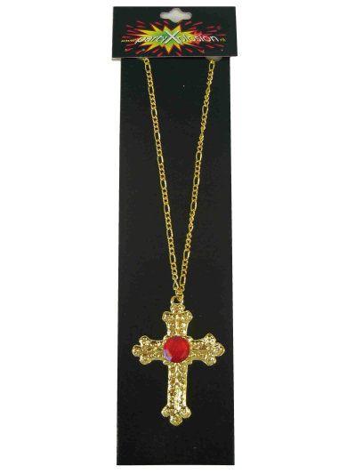Sinterklaas kruis metaal goud en steen
