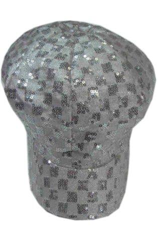 Cap met pailletten zilver
