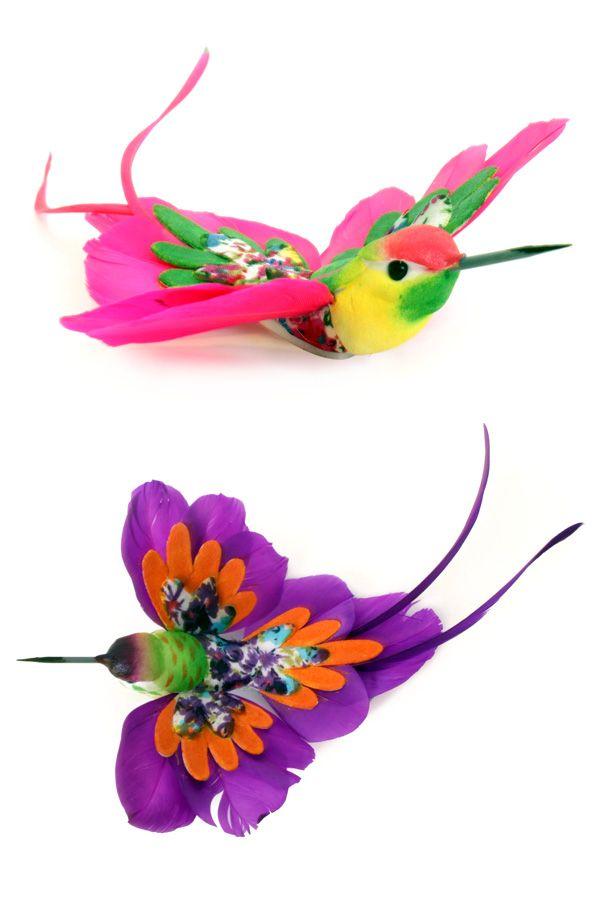Kolibrie multi colour diverse kleuren per stuk 20 cm