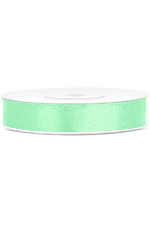 Satin Ribbon lint 12 mm rol 25 meter kleur: Mint