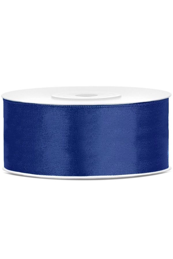 Satin Ribbon lint 25 mm rol 25 meter kleur: Royal blauw