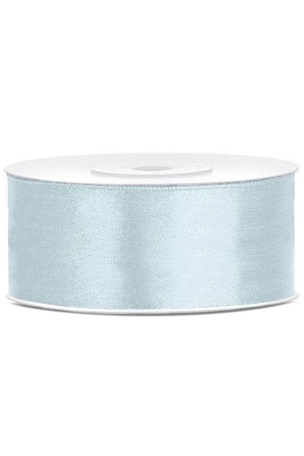Satin Ribbon lint 25 mm rol 25 meter kleur: Misty blauw