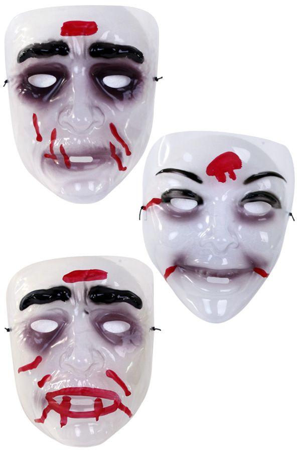 Masker zombie transparant per stuk