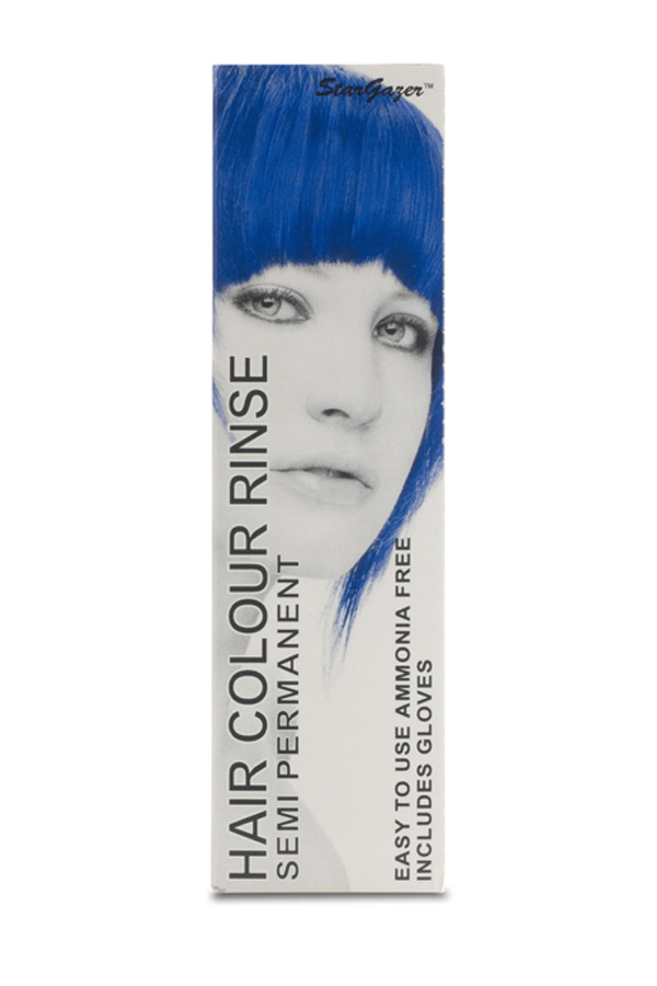 Semi permanent hair colour rinse UV royal blue Stargazer