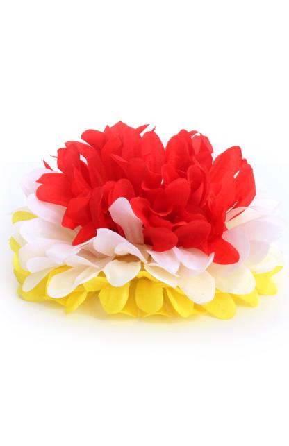 Bloem met haarclip rood/geel/wit Oeteldonk
