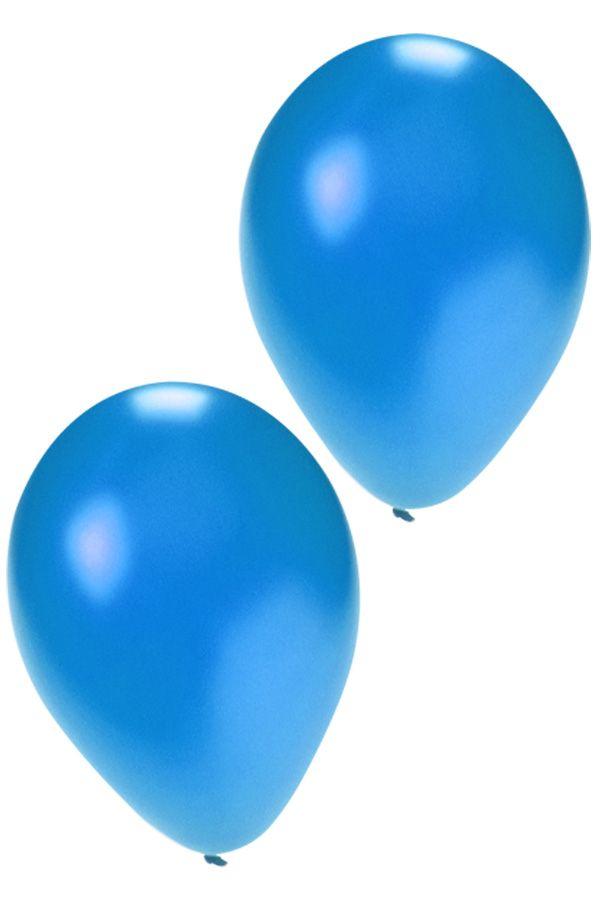 Kwaliteitsballon metallic blue per 50 mt 14/36 cm