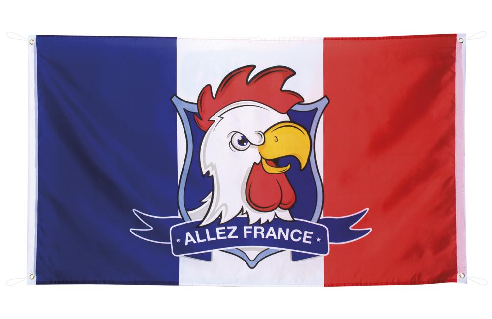 Polyester vlag Allez France (90 x 150 cm)