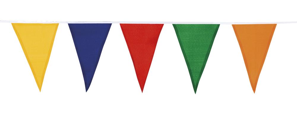Katoenen vlaggenlijn veelkleurig (10 m)