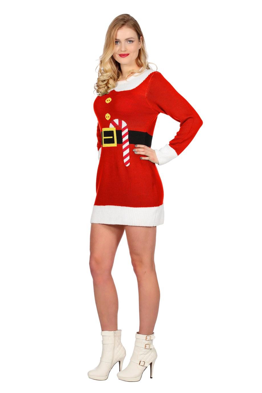 Kerst jurk rood kerst elf voor volwassenen