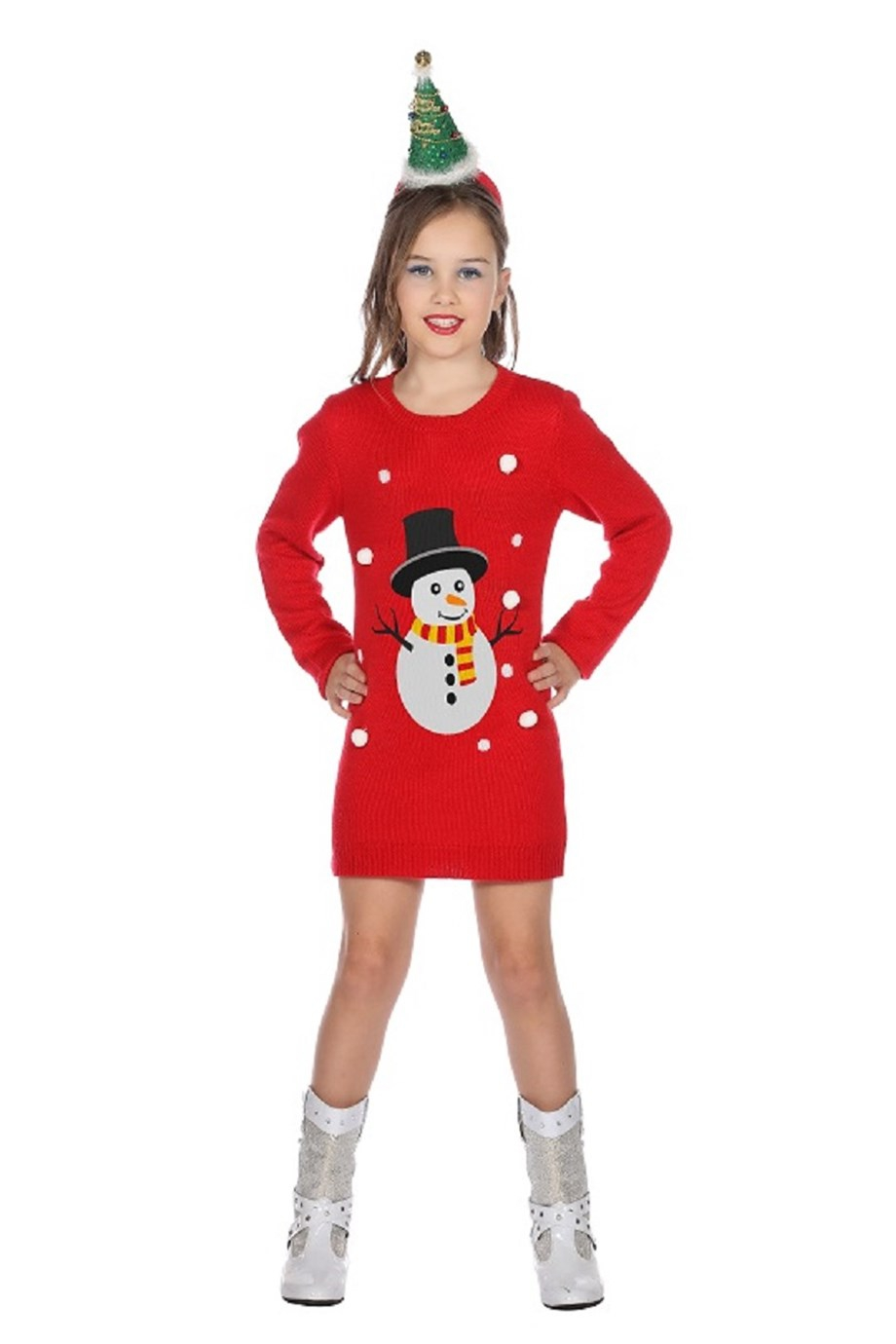 Fout rood kerst jurkje voor meisje