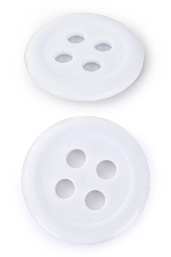 Knoop kunststof 6 cm wit per stuk