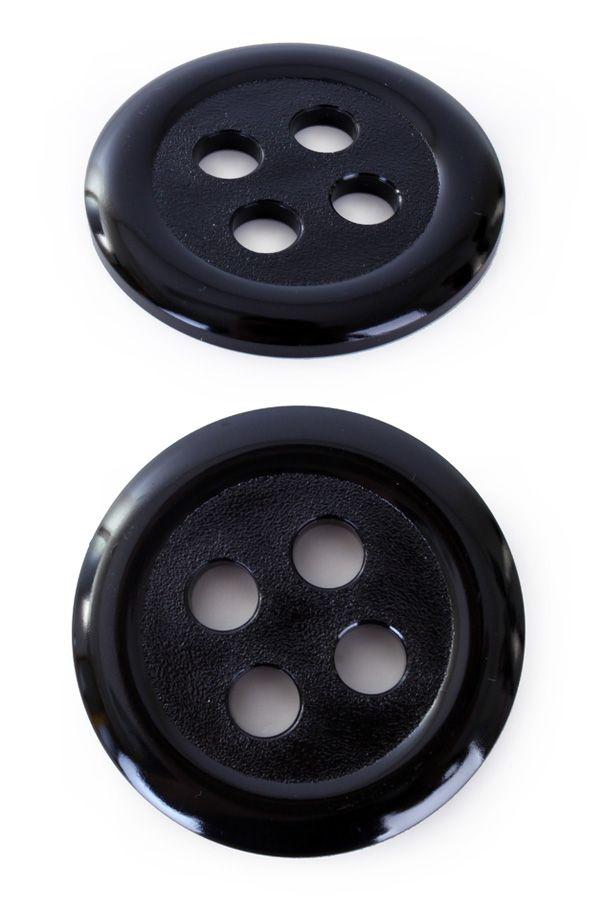 Knoop kunststof 6 cm zwart per stuk