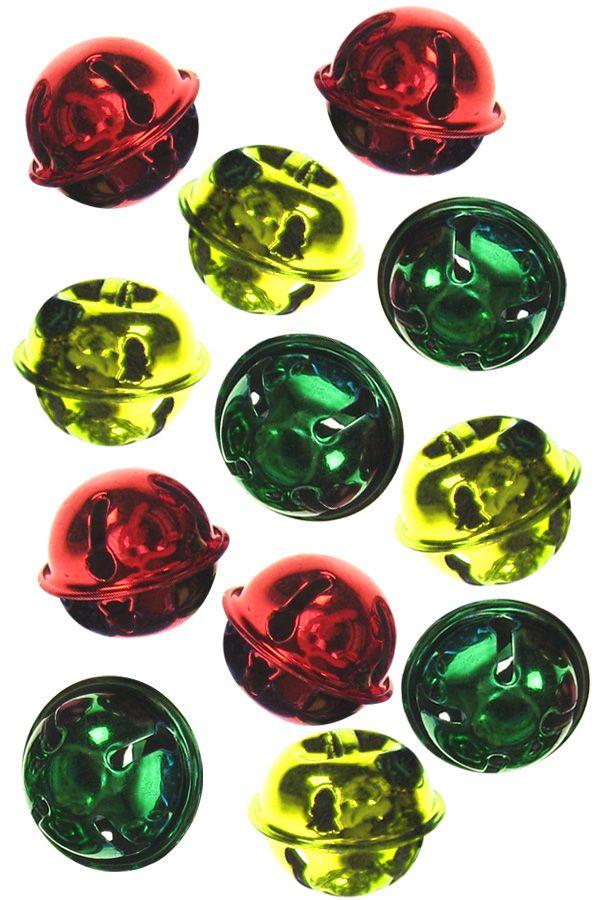 Belletjes rood, geel of groen 25mm per stuk